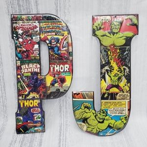 """NWT Marvel 10"""" Thin Metal Letter P or J"""